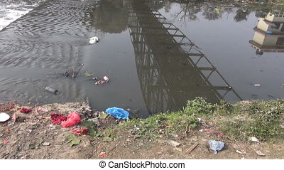 catastrophic river pollution asia - environmental...