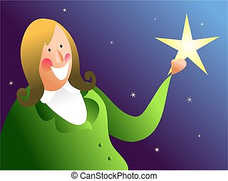 catch a falling star - woman achieving her dreams