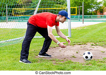 Catch the soccer ball