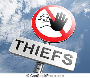 catch thiefs stop theft no robbery or pick pocket thief ...