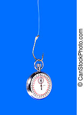 Catch Up - Stopwatch Hanging From a Hook