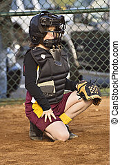 Catcher Girl's Softball