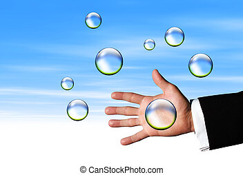 Catching Clear bubbles