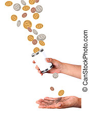 Catching falling dollars and cents