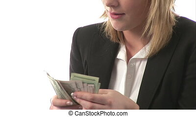 Catching Falling Dollars - Stock Video Footage of a...