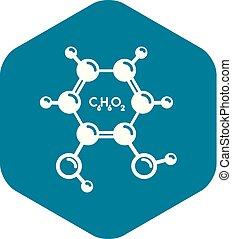 Catechol molecule icon, simple style