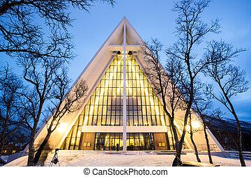 catedral, ártico, noruega