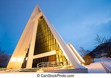 catedral, ártico, noruega, tromso