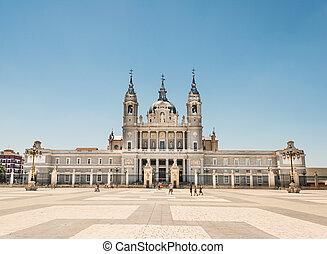 catedral, almudena, madrid, españa
