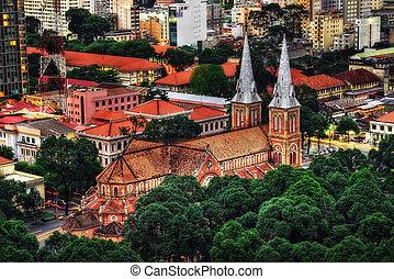 catedral, basílica, dama notre, saigon