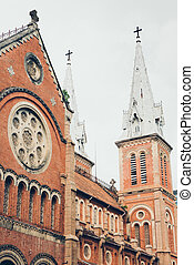 catedral, basílica, dama notre, saigon.