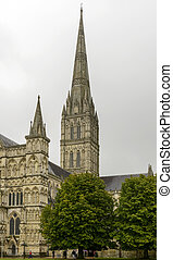 catedral, bell-tower, salisbury