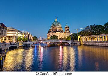 catedral, berlim, spree rio