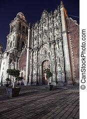 catedral, ciudad, metropolitano, méxico