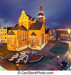 catedral, cuadrado, riga, letonia