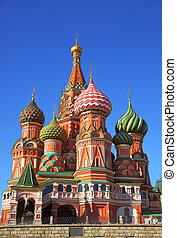 catedral, cuadrado, rojo