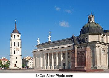 catedral, cuadrado, vilnius