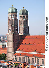 catedral, dama, munich, nuestro