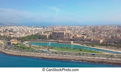 Catedral de Santa Maria Palma de Mallorca. Aerial view