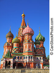 catedral, en, cuadrado rojo