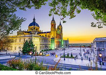 catedral, en, madrid