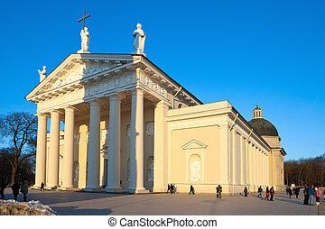 catedral, en, vilnius., lithuania.