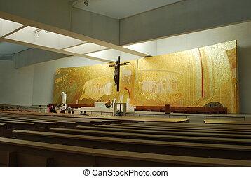 catedral, fatima, moderno, nuevo