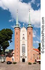 catedral gótica, em, gdansk, oliwa, polônia
