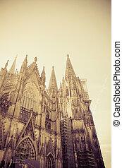 catedral, gótico, alemanha, colónia