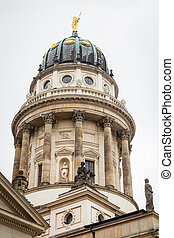 catedral, gendarmenmarkt, alemania, francés, berlín