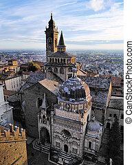 catedral, italia, bergamo, lombardía