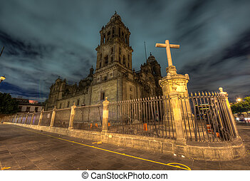 catedral, méxico, metropolitano, ciudad