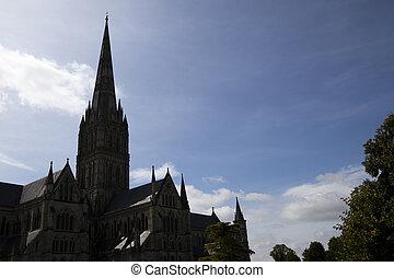 catedral, medieval, gótico, salisbury, anglican