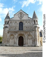 catedral, poitiers, dama, notre
