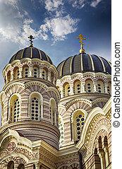 catedral, riga, ortodoxo