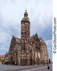 catedral, s., eslovaquia, kosice, elisabeth