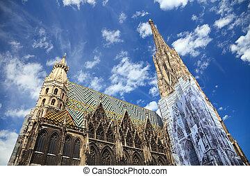 catedral, s., stephan, viena