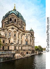 catedral, vista, gótico, alemanha, berlim