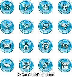 categorie, set, onderwerp, pictogram
