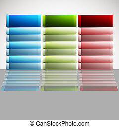 Category Chart - An image of a 3d category chart.