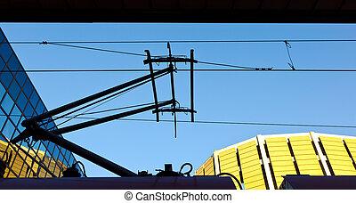 catenary, chemin fer