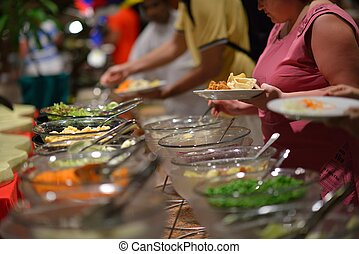 buffet food - catering buffet food indoor in luxury ...