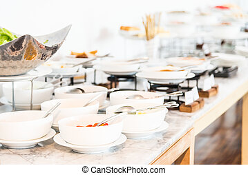 Catering buffet food
