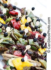 catering buffet plate closeup