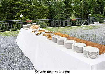 catering buffet Tercesi castle