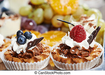 catering cake food - catering services background with cake...