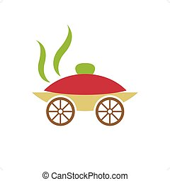 Catering Carriage - Catering like carriage vector...