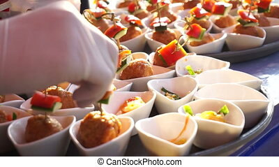 Catering, Chef hand cocktail party