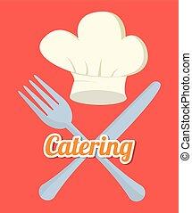 catering, embleem, verwant, iconen