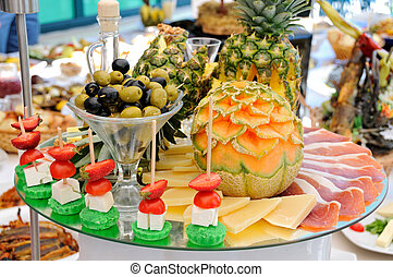 Catering food at a party - Decorative delicious organic food...